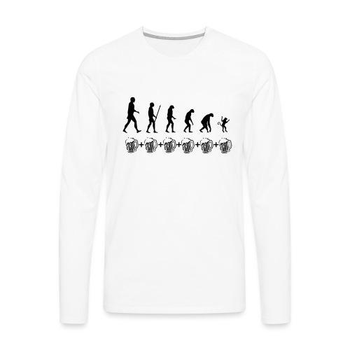 Evolution drinking - Maglietta Premium a manica lunga da uomo