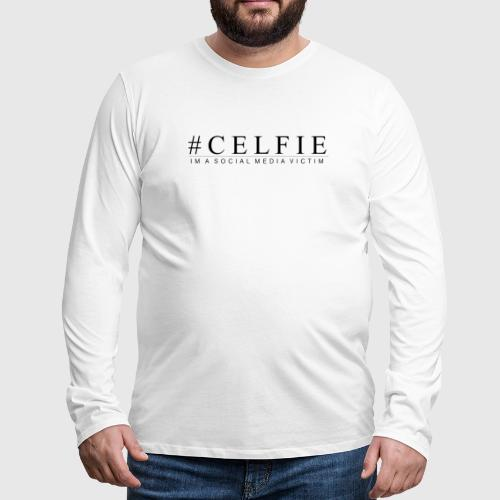 CELFIE - Herre premium T-shirt med lange ærmer