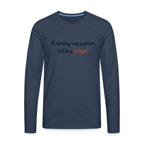 ginger1 - Miesten premium pitkähihainen t-paita
