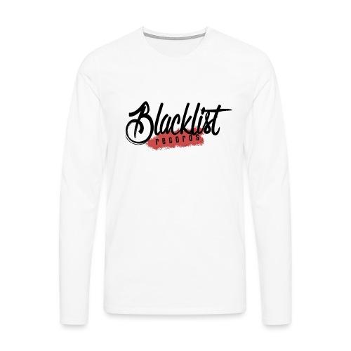 Blacklist Records - T-Shirt (Logo Noir) - T-shirt manches longues Premium Homme
