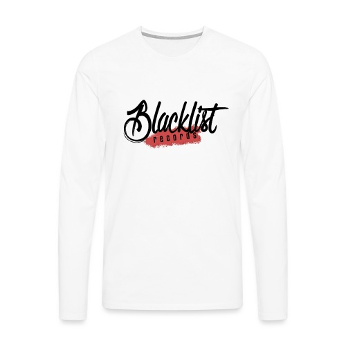 Blacklist Records - Casquette (Logo Noir) - T-shirt manches longues Premium Homme