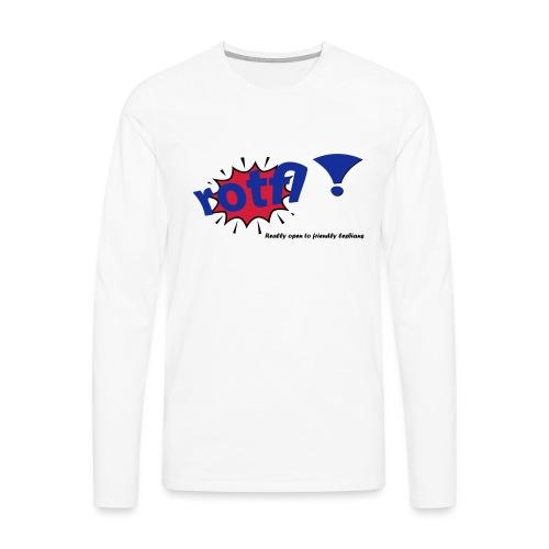rotfl ! - Miesten premium pitkähihainen t-paita