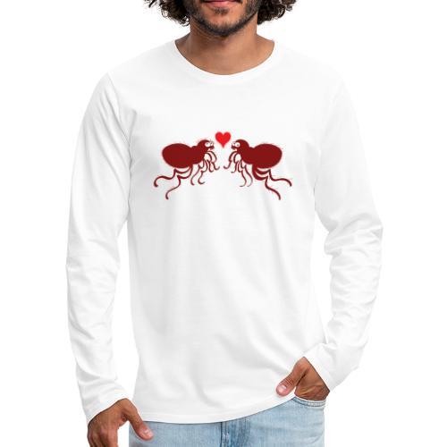 Ugly fleas madly falling in love - Men's Premium Longsleeve Shirt