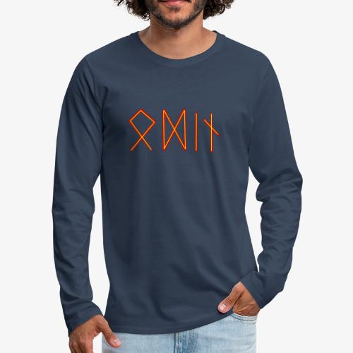 Odin in Runenschrift - Männer Premium Langarmshirt