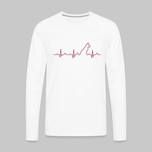 Dog Heartbeat 2 - Männer Premium Langarmshirt