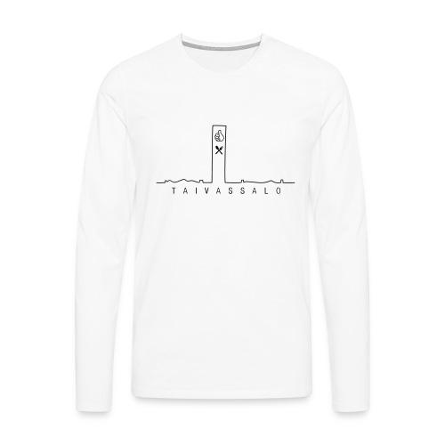 Taivassalo -printti - Miesten premium pitkähihainen t-paita