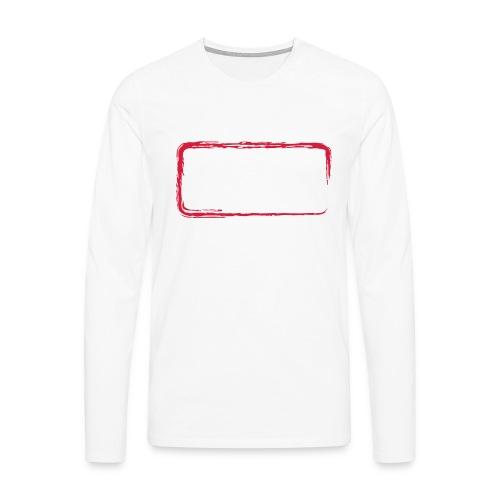 Rahmen_01 - Männer Premium Langarmshirt
