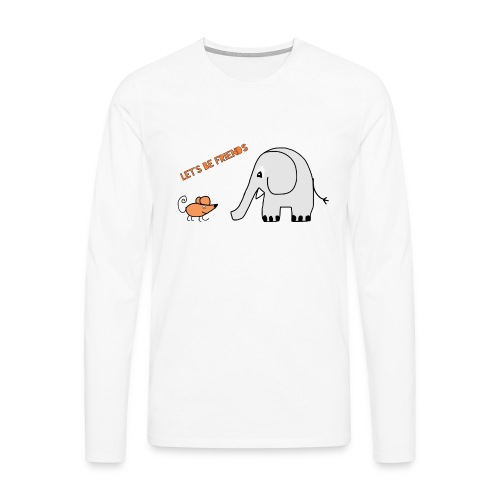 Elephant and mouse, friends - Men's Premium Longsleeve Shirt