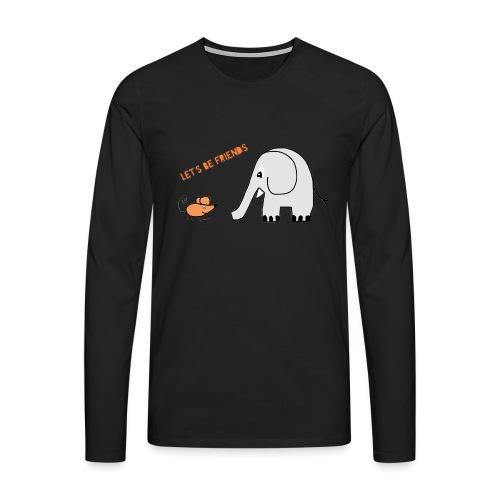 Elephant and mouse, friends - Men's Premium Longsleeve Shirt