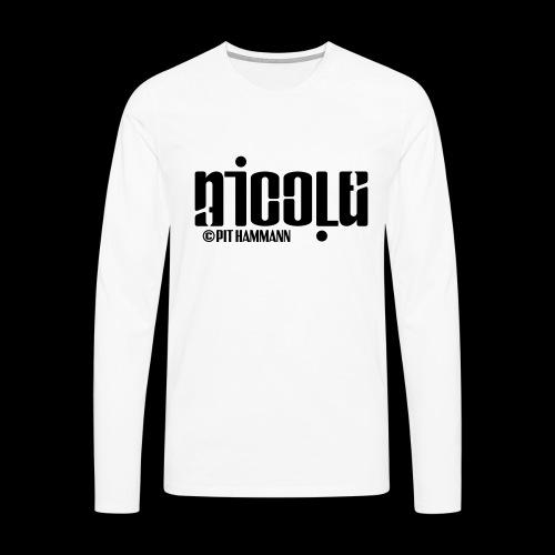 Ambigramm Nicole 01 Pit Hammann - Männer Premium Langarmshirt