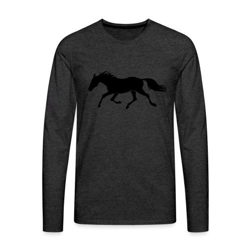 Cavallo - Maglietta Premium a manica lunga da uomo