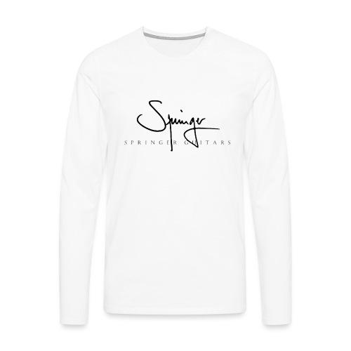 Logo Springer Guitars - T-shirt manches longues Premium Homme
