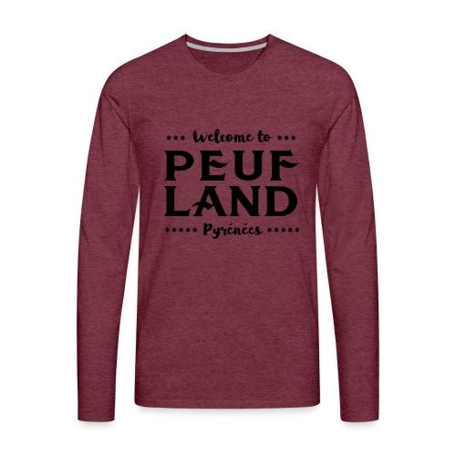 Peuf Land Pyrénées - Black - T-shirt manches longues Premium Homme