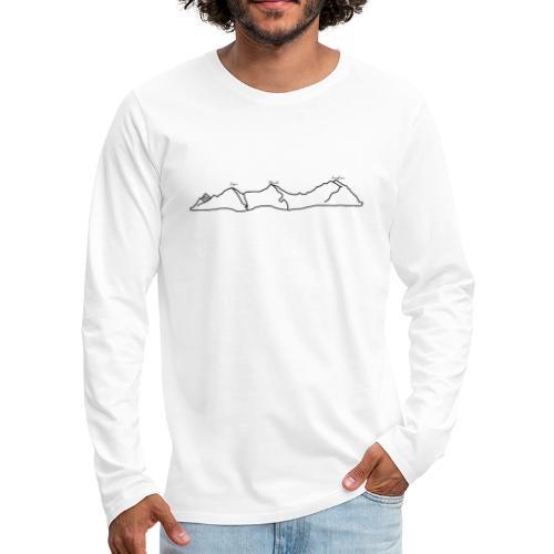 Eiger, Mönch und Jungfrau - Männer Premium Langarmshirt