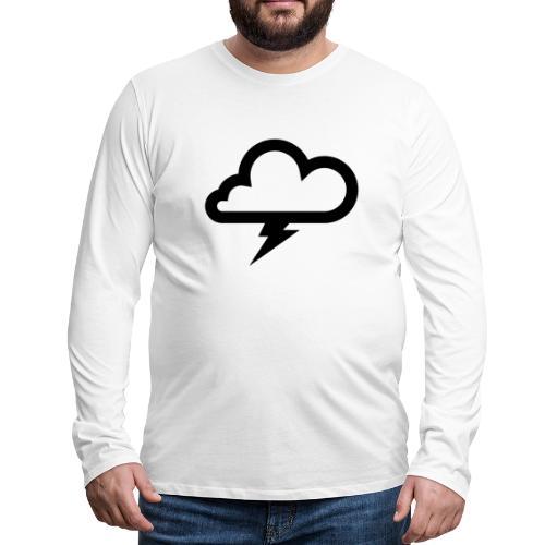 Wolke mit Blitz - Männer Premium Langarmshirt