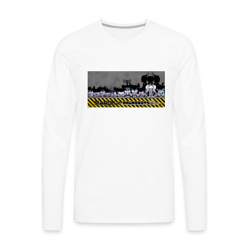 #MarchOfRobots ! LineUp Nr 2 - Herre premium T-shirt med lange ærmer