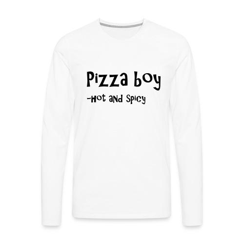 Pizza boy - Premium langermet T-skjorte for menn