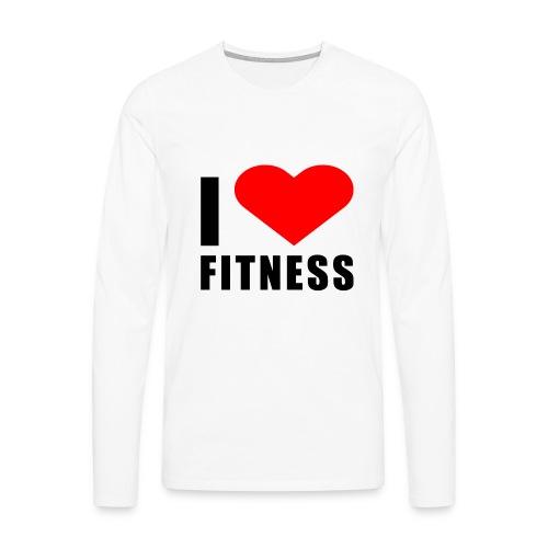 I LOVE FITNESS - Männer Premium Langarmshirt