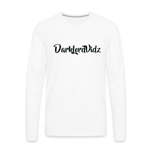 DarklordVidz Black Logo - Men's Premium Longsleeve Shirt