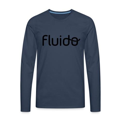 fluidologo_musta - Miesten premium pitkähihainen t-paita