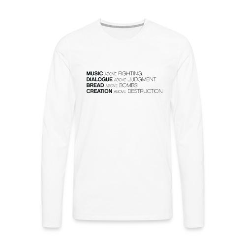 slogan png - Mannen Premium shirt met lange mouwen