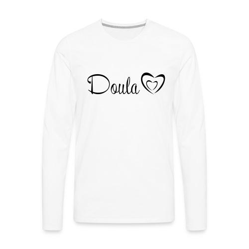 doula polkuna sydämet - Miesten premium pitkähihainen t-paita