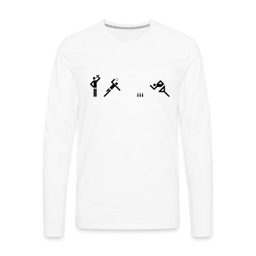 Flunkyball (groß) - Männer Premium Langarmshirt
