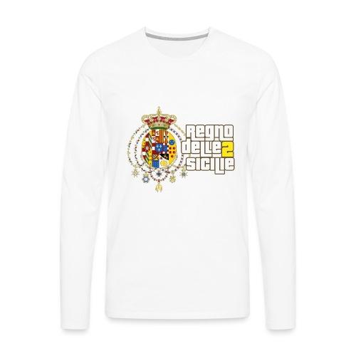 regno delle 2 sicilie testo bianco - Maglietta Premium a manica lunga da uomo