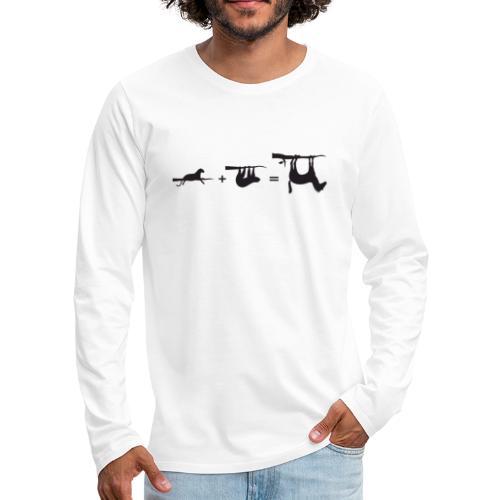 Lui paard Formule Luipaar - Mannen Premium shirt met lange mouwen
