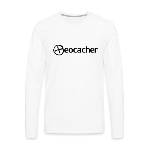 Geocacher - Miesten premium pitkähihainen t-paita
