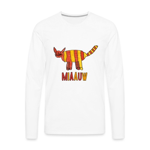 miaauw poesje - Mannen Premium shirt met lange mouwen