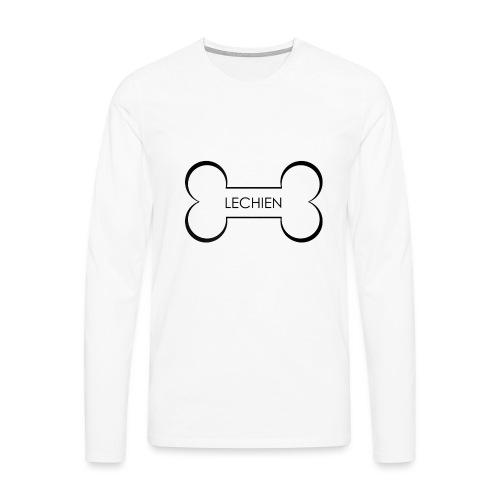 LeChien - Maglietta Premium a manica lunga da uomo