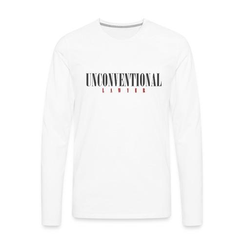 Unconventional Lawyer - T-shirt per avvocati (men) - Men's Premium Longsleeve Shirt