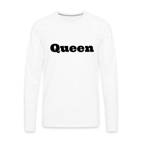 Snapback queen grijs/zwart - Mannen Premium shirt met lange mouwen
