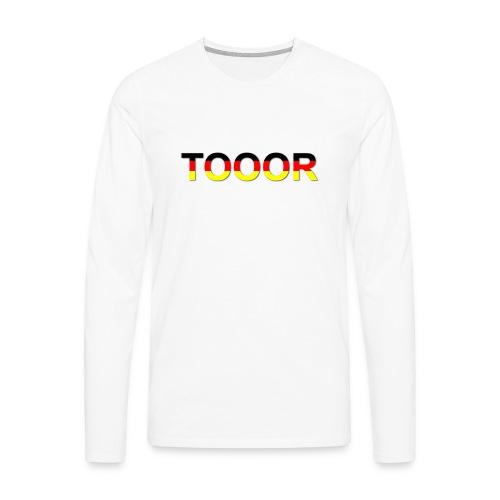 TOOOR-Schatten-transparen - Männer Premium Langarmshirt