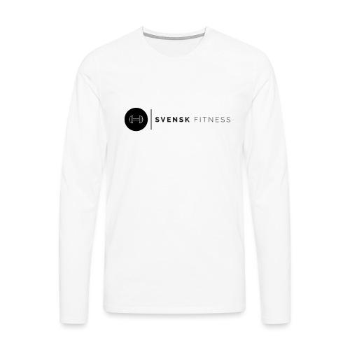 Linne med vertikal logo - Långärmad premium-T-shirt herr