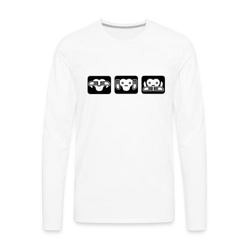 Drei Affen - Männer Premium Langarmshirt