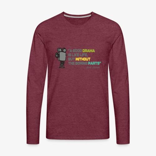 Pasión por el cine - Camiseta de manga larga premium hombre