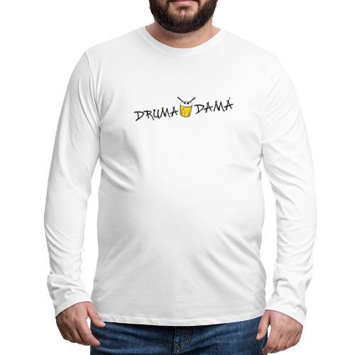 KOMBI - dd logo auf WEISS - Männer Premium Langarmshirt