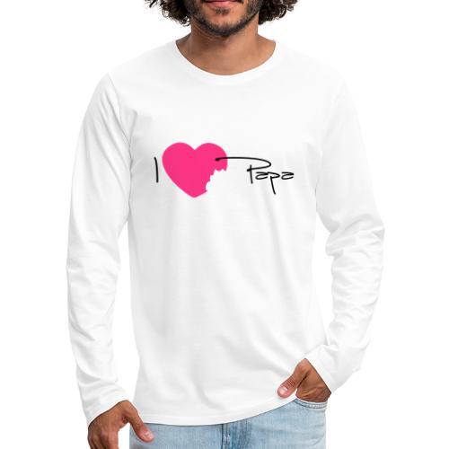 I love Papa 13 Vecto - T-shirt manches longues Premium Homme