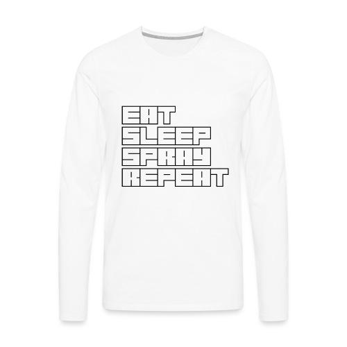 EATSLEEPSPRAYREPEAT - Men's Premium Longsleeve Shirt