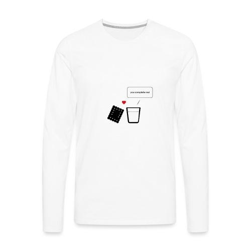 Regali per Innamorati   Mi Completi - Maglietta Premium a manica lunga da uomo