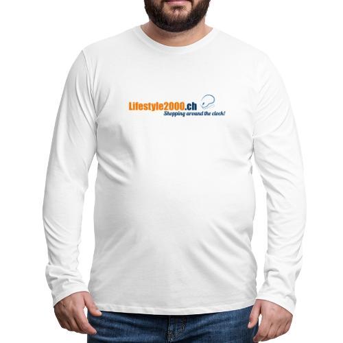 lifestyle 2000 Original Logo - Männer Premium Langarmshirt