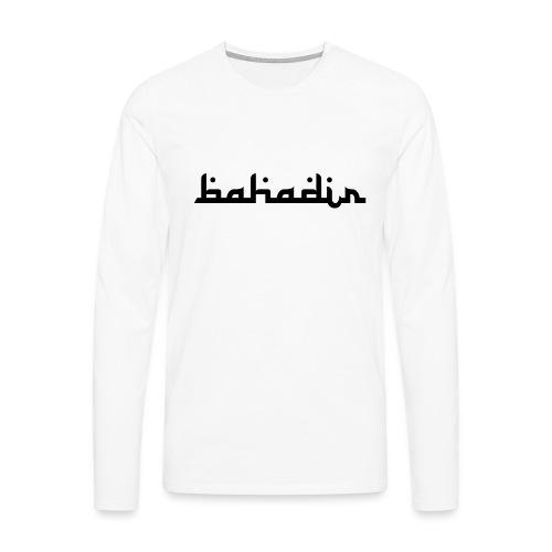 bahadir logo1 png - Männer Premium Langarmshirt