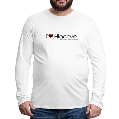 I Love Algarve - T-shirt manches longues Premium Homme