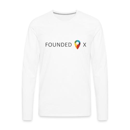 FoundedX logo png - Men's Premium Longsleeve Shirt
