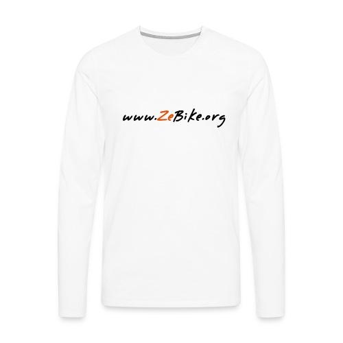 wwwzebikeorg s - T-shirt manches longues Premium Homme