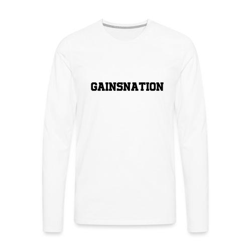 Kortärmad tröja Gainsnation - Långärmad premium-T-shirt herr