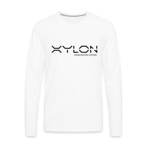 Xylon Handcrafted Guitars (plain logo in black) - Men's Premium Longsleeve Shirt