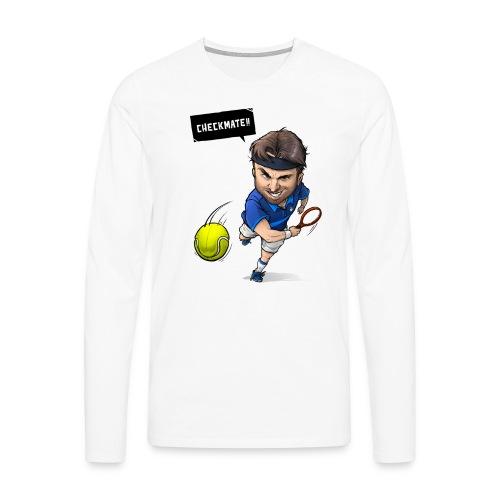 Alasdair checkmate logo - Men's Premium Longsleeve Shirt